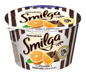 Smilga jogurtas su apelsinais ir šokolado gabaliukais, 200g