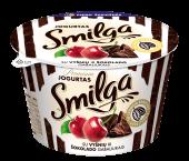 SMILGA jogurtas su vyšniomis ir šokolado gabaliukais, 200g