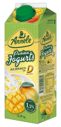 ANNELE paniņu jogurts, ar mango un D vitamīnu, 0,9kg